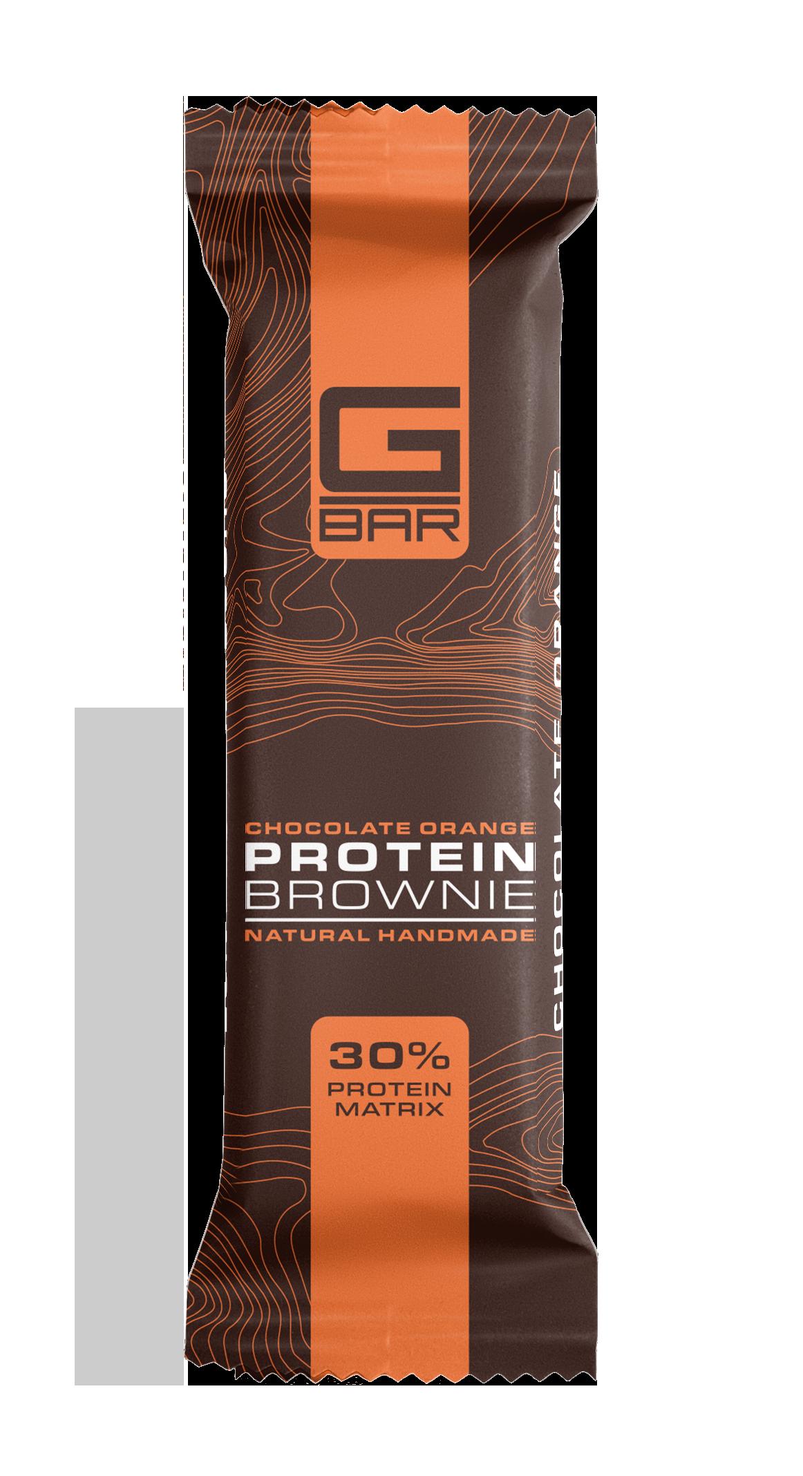 G-BAR BROWNIE CHOCOLATE ORANGE – 60 грама.